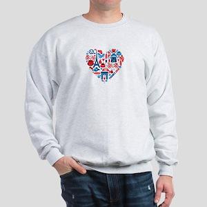 France World Cup 2014 Heart Sweatshirt