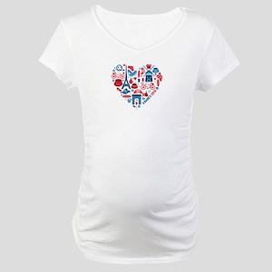 France World Cup 2014 Heart Maternity T-Shirt