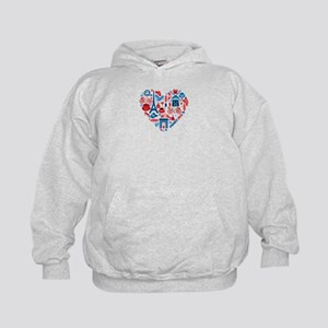 France World Cup 2014 Heart Kids Hoodie