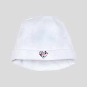 France World Cup 2014 Heart baby hat