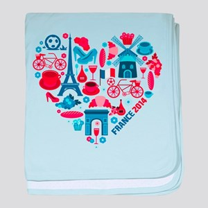 France World Cup 2014 Heart baby blanket