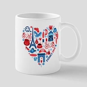 France World Cup 2014 Heart Mug