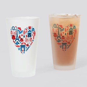 France World Cup 2014 Heart Drinking Glass