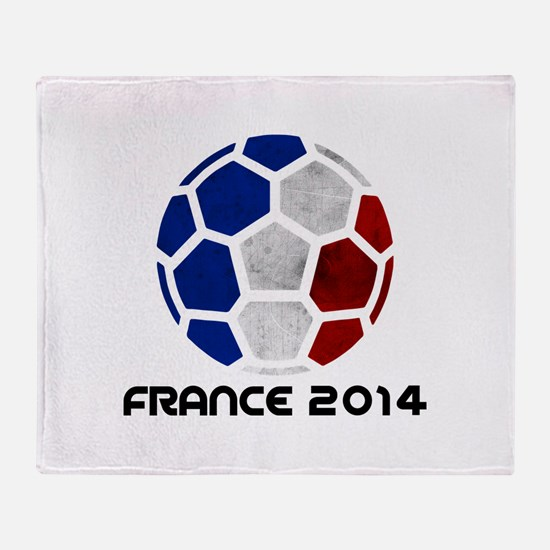 France World Cup 2014 Throw Blanket