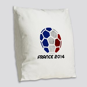 France World Cup 2014 Burlap Throw Pillow