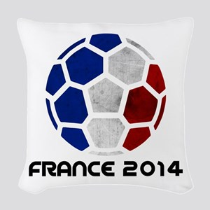 France World Cup 2014 Woven Throw Pillow