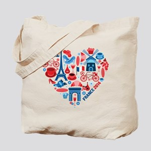 France World Cup 2014 Heart Tote Bag