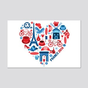 France World Cup 2014 Heart Mini Poster Print