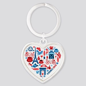 France World Cup 2014 Heart Heart Keychain