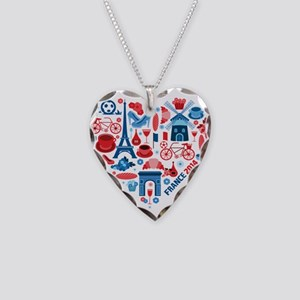 France World Cup 2014 Heart Necklace Heart Charm