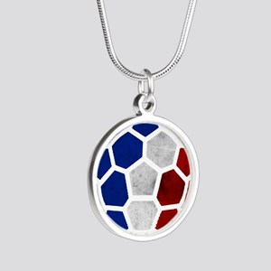 France World Cup 2014 Silver Round Necklace