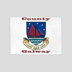 County Galway COA 5'x7'Area Rug