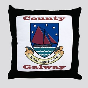 County Galway COA Throw Pillow