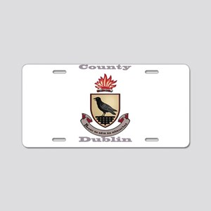 County Dublin Coat of Arms Aluminum License Plate