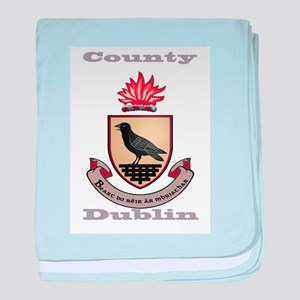 County Dublin Coat of Arms baby blanket