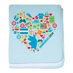 Honduras World Cup 2014 Heart baby blanket