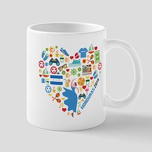 Honduras World Cup 2014 Heart Mug