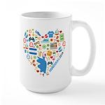 Honduras World Cup 2014 Heart Large Mug