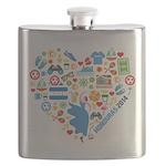 Honduras World Cup 2014 Heart Flask