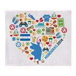 Honduras World Cup 2014 Heart Throw Blanket