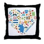 Honduras World Cup 2014 Heart Throw Pillow