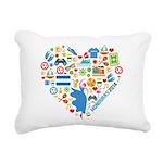 Honduras World Cup 2014 Rectangular Canvas Pillow