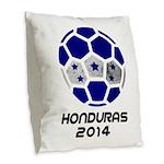 Honduras World Cup 2014 Burlap Throw Pillow