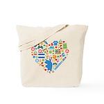 Honduras World Cup 2014 Heart Tote Bag