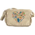 Honduras World Cup 2014 Heart Messenger Bag