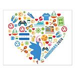 Honduras World Cup 2014 Heart Small Poster