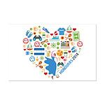 Honduras World Cup 2014 Heart Mini Poster Print