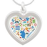 Honduras World Cup 2014 Hear Silver Heart Necklace