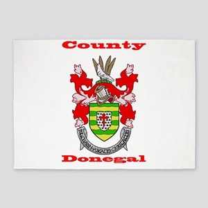 County Donegal COA 5'x7'Area Rug