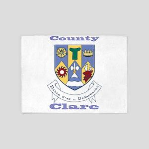 County Clare COA 5'x7'Area Rug