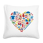 Bosnia-Herzegovina World Cup Square Canvas Pillow
