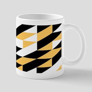 Mustard and black retro geometric Mugs