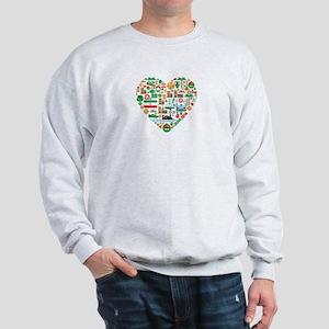 Iran World Cup 2014 Heart Sweatshirt
