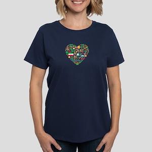Iran World Cup 2014 Heart Women's Dark T-Shirt