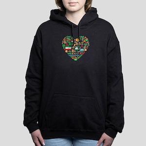 Iran World Cup 2014 Hear Women's Hooded Sweatshirt