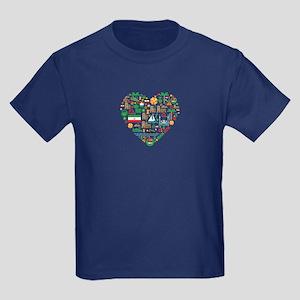 Iran World Cup 2014 Heart Kids Dark T-Shirt