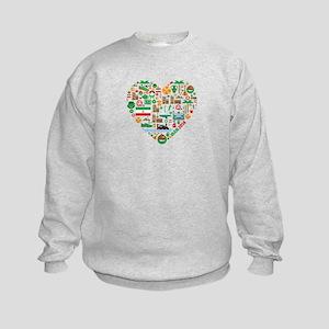 Iran World Cup 2014 Heart Kids Sweatshirt