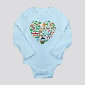 Iran World Cup 2014 He Long Sleeve Infant Bodysuit