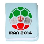 Iran World Cup 2014 baby blanket