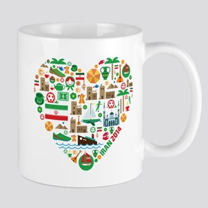 Iran World Cup 2014 Heart Mug