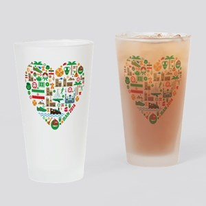 Iran World Cup 2014 Heart Drinking Glass