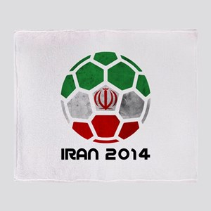 Iran World Cup 2014 Throw Blanket
