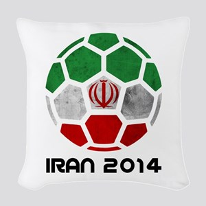 Iran World Cup 2014 Woven Throw Pillow