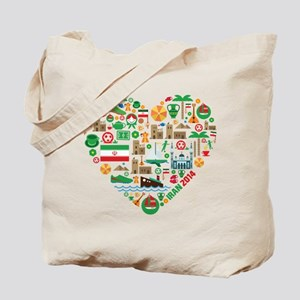 Iran World Cup 2014 Heart Tote Bag