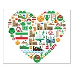 Iran World Cup 2014 Heart Small Poster