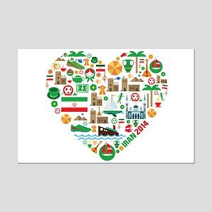 Iran World Cup 2014 Heart Mini Poster Print